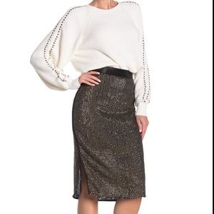 NWT Joie- Malloren Sequined Pencil Skirt